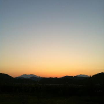 20130921CAAD10長野堤防90kmライド夕焼け
