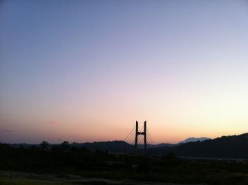 20130921CAAD10長野堤防90kmライド夕焼け平成橋