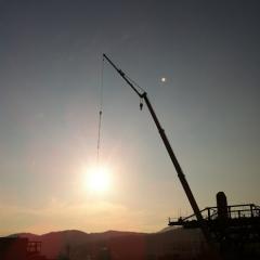 20131102CAAD10栄村70kmライド巨大線香花火