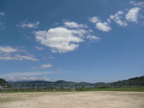 大草公園です。流石に風ない。