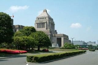 国会議事堂斜め写真