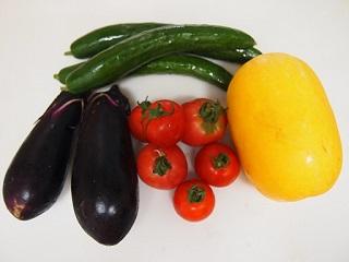 知崎さん栽培の野菜