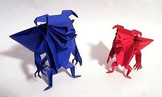 悪魔の折り紙