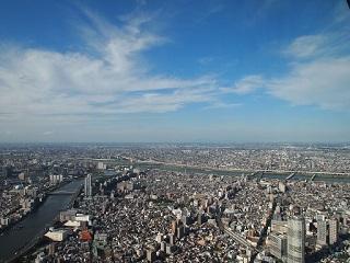 20130909東京ルカイツリー秋の空