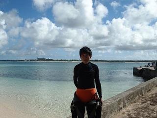 20130827クリマビーチの朝・恒明