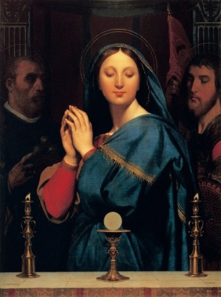 プーシキン美術館聖杯の前の聖母