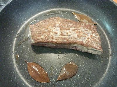 ローストビーフ 焼き中