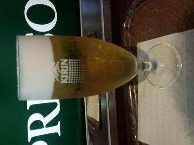 CIAO PRESSO の ビール \300