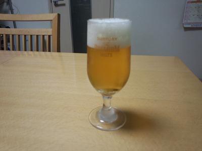 ビール2回目落ち着き