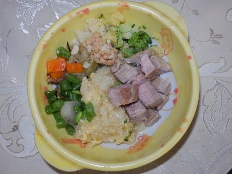 秋の豚肉ごはん1