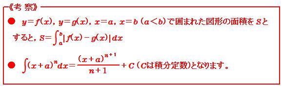 積分(Ⅱ) 面積 考察