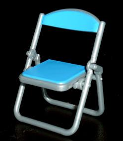 SKジャパン 折りたたみパイプ椅子 ブルー