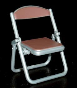 SKジャパン 折りたたみパイプ椅子 ブラウン