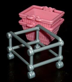 SKジャパン ショッピングカート かご台車×かご(ピンク)