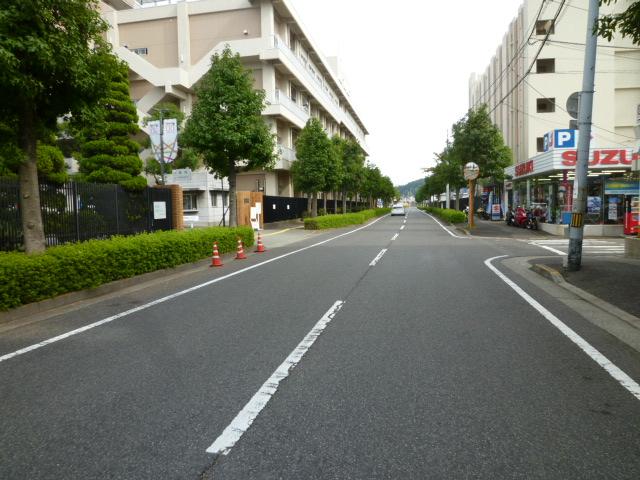 徳島文理大学前のメイン道路