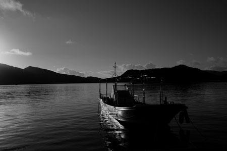 座間味島阿佐部落漁船