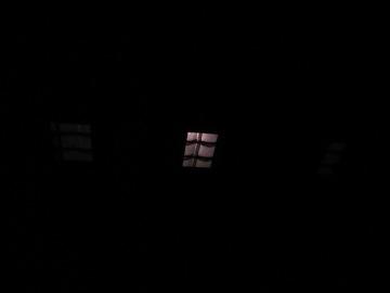 月の明かりが