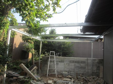 ピザ窯屋根