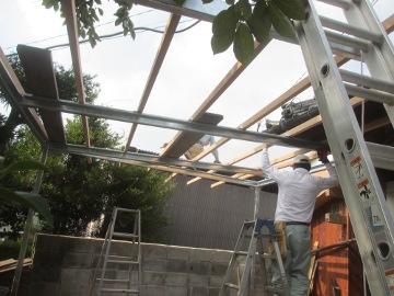 ピザ窯屋根2