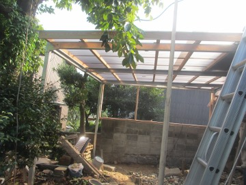 ピザ窯屋根3
