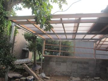 ピザ窯屋根4