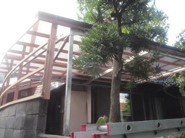 ピザ窯屋根5