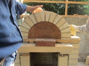 ピザ窯作り23