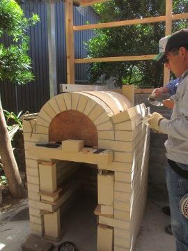 ピザ窯作り24