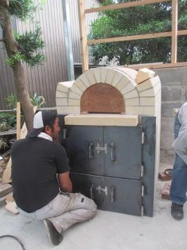 ピザ窯作り26