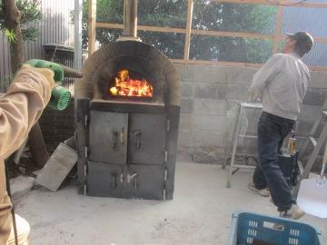 ピザ窯作り53