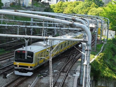 御茶ノ水橋から E231系電車
