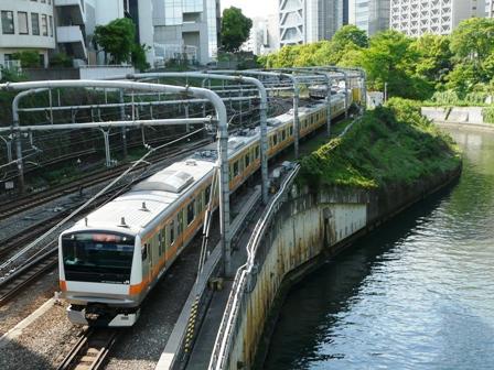 御茶ノ水橋から E233系電車 1