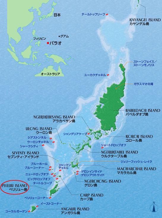 地図ペリリュー島