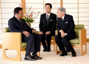 天皇陛下とパラオ大統領