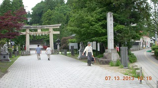 東照宮の門前