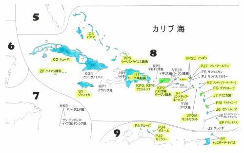 s-カリブ海エンティティー地図(塗り分け)