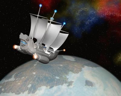 宇宙帆船(StarMaria)と惑星