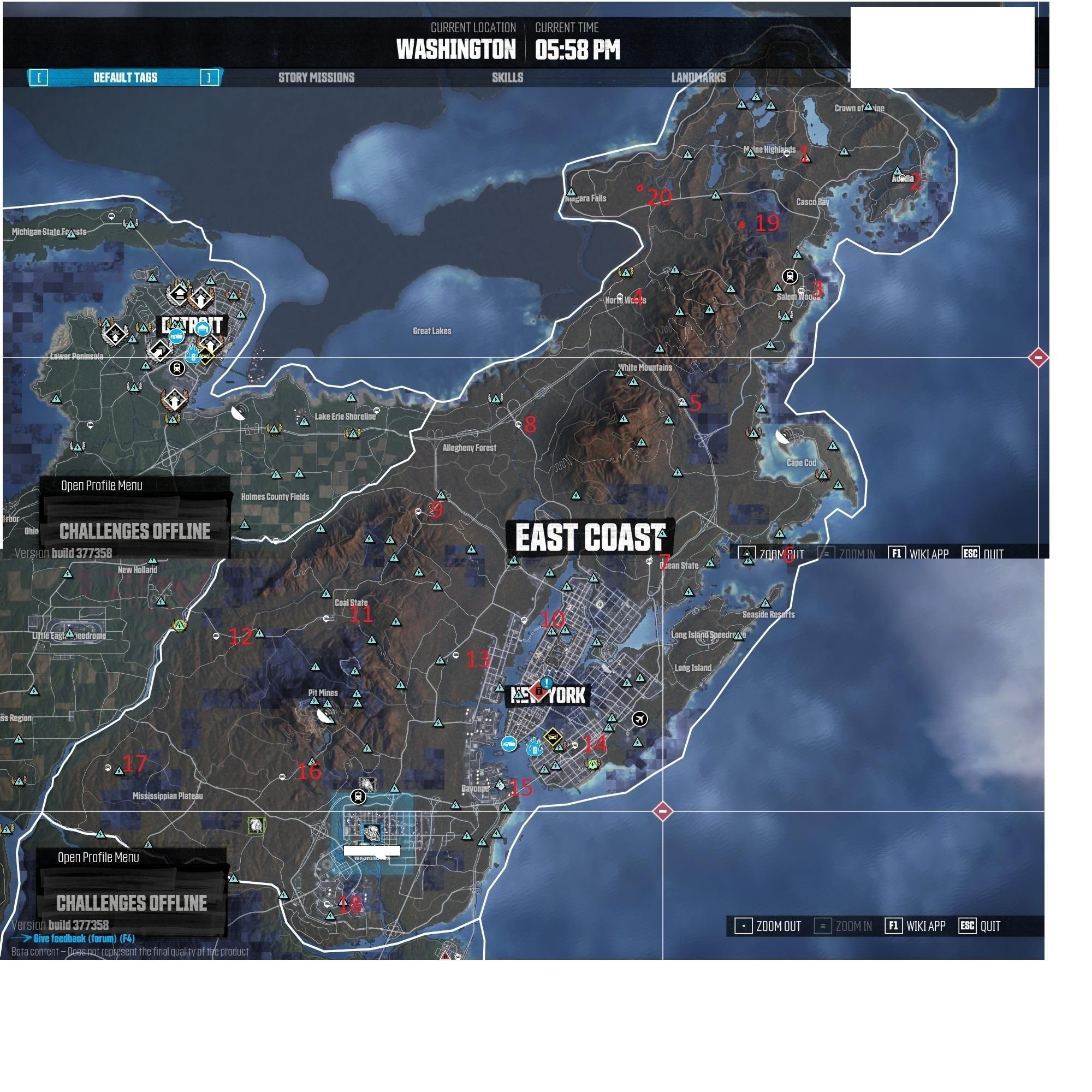 The Crew Hidden Car Parts East Coast Locations