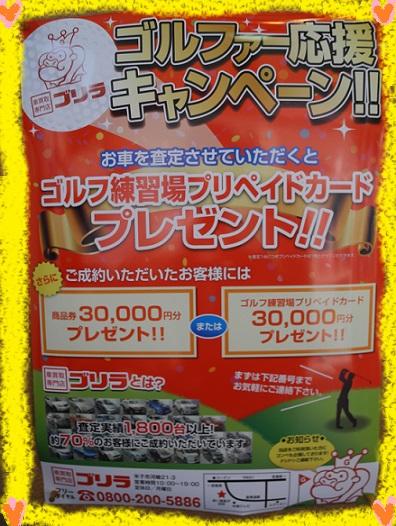 ゴルファー応援キャンペーン