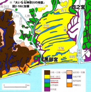 平塚付近の微地形分類図