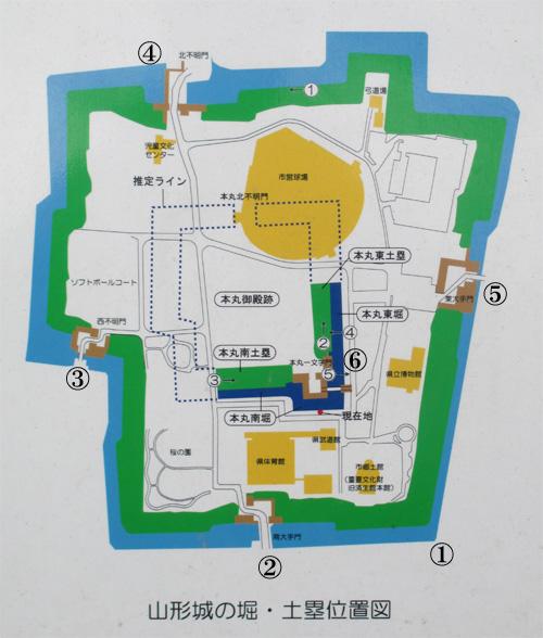山形城地図