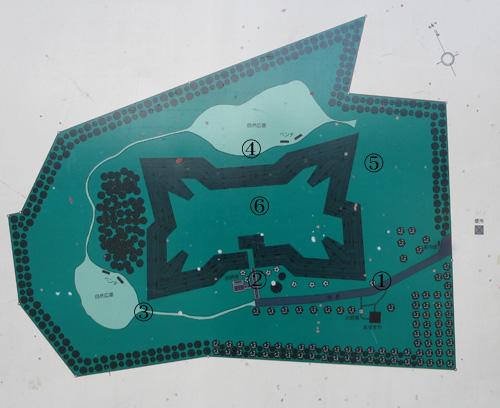 四稜郭地図