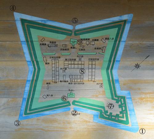 戸切地陣屋地図