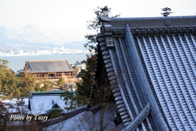 大聖院の大屋根と千畳閣