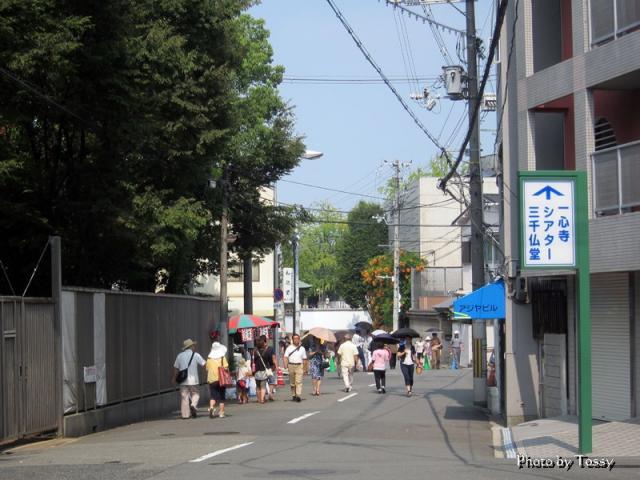 一心寺への道