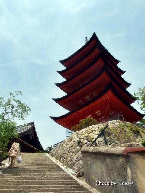 重要文化財厳島神社五重塔