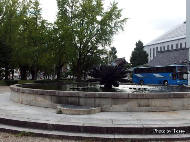 東本願寺前の噴水