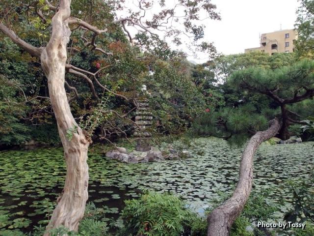 十三景の三 印月池 源融ゆかりの塔