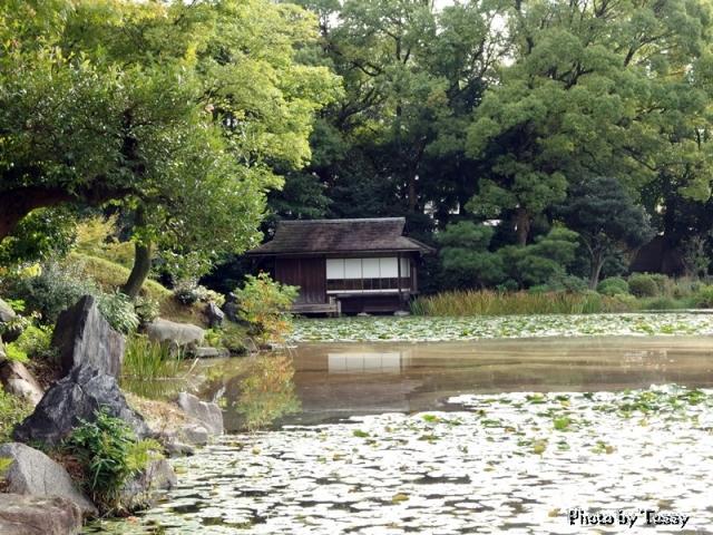 十三景の十一 漱沈居 印月池の西南に位置する茶室