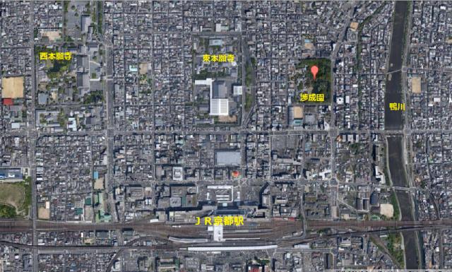 本願寺京都駅 地図